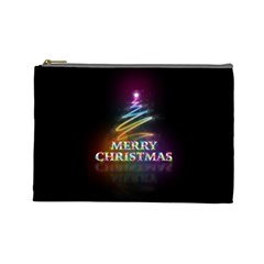 Merry Christmas Abstract Cosmetic Bag (large)