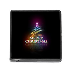 Merry Christmas Abstract Memory Card Reader (Square)