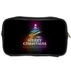 Merry Christmas Abstract Toiletries Bags