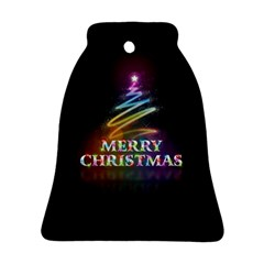 Merry Christmas Abstract Bell Ornament (Two Sides)