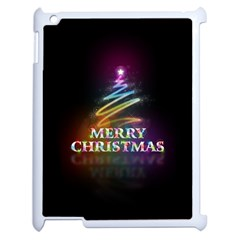 Merry Christmas Abstract Apple iPad 2 Case (White)