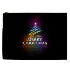 Merry Christmas Abstract Cosmetic Bag (XXL)