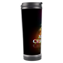 Merry Christmas Abstract Travel Tumbler