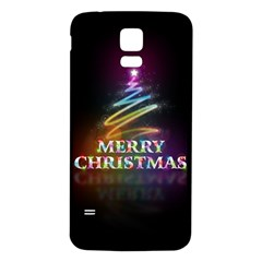 Merry Christmas Abstract Samsung Galaxy S5 Back Case (White)