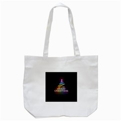 Merry Christmas Abstract Tote Bag (white)