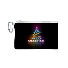 Merry Christmas Abstract Canvas Cosmetic Bag (s)