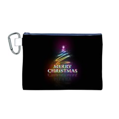 Merry Christmas Abstract Canvas Cosmetic Bag (M)