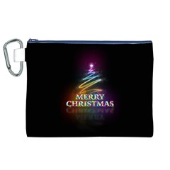Merry Christmas Abstract Canvas Cosmetic Bag (XL)