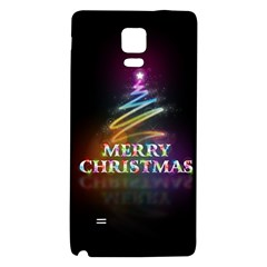 Merry Christmas Abstract Galaxy Note 4 Back Case