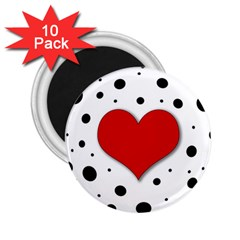 Red heart 2.25  Magnets (10 pack)