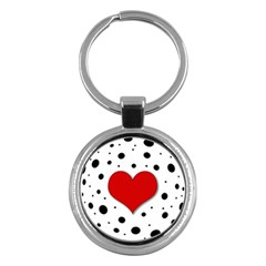 Red heart Key Chains (Round)