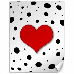 Red Heart Canvas 12  X 16