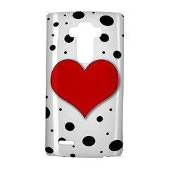 Red heart LG G4 Hardshell Case