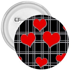 Red hearts pattern 3  Buttons
