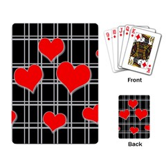 Red hearts pattern Playing Card