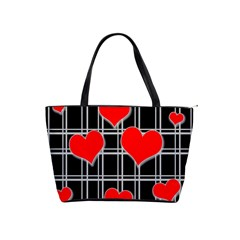 Red Hearts Pattern Shoulder Handbags