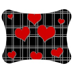 Red hearts pattern Jigsaw Puzzle Photo Stand (Bow)