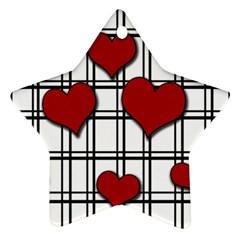 Hearts pattern Ornament (Star)