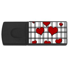 Hearts pattern USB Flash Drive Rectangular (4 GB)