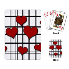 Hearts pattern Playing Card