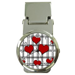 Hearts pattern Money Clip Watches