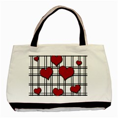 Hearts pattern Basic Tote Bag (Two Sides)