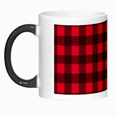 Red and black plaid pattern Morph Mugs