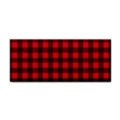 Red and black plaid pattern Cosmetic Storage Cases