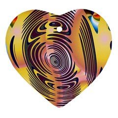 Ethnic Tribal Pattern Heart Ornament (Two Sides)