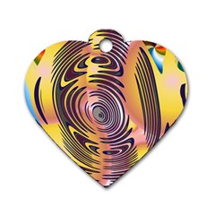 Ethnic Tribal Pattern Dog Tag Heart (One Side)