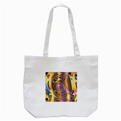 Ethnic Tribal Pattern Tote Bag (white)