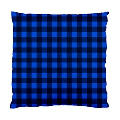 Blue and black plaid pattern Standard Cushion Case (Two Sides)