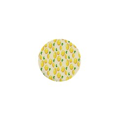 Pattern Template Lemons Yellow 1  Mini Buttons