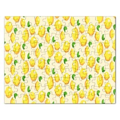 Pattern Template Lemons Yellow Rectangular Jigsaw Puzzl