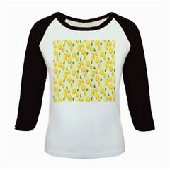 Pattern Template Lemons Yellow Kids Baseball Jerseys