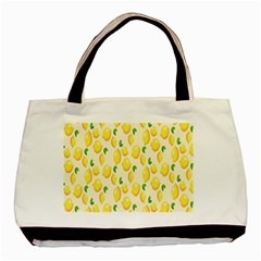 Pattern Template Lemons Yellow Basic Tote Bag (Two Sides)