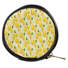 Pattern Template Lemons Yellow Mini Makeup Bags