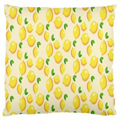 Pattern Template Lemons Yellow Large Cushion Case (Two Sides)