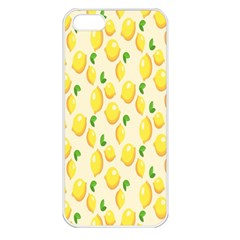 Pattern Template Lemons Yellow Apple iPhone 5 Seamless Case (White)