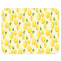 Pattern Template Lemons Yellow Double Sided Flano Blanket (Medium)