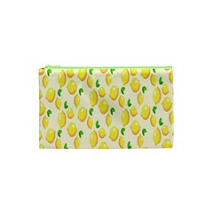 Pattern Template Lemons Yellow Cosmetic Bag (XS)