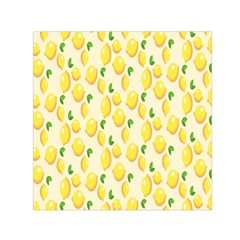 Pattern Template Lemons Yellow Small Satin Scarf (Square)