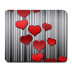 Valentines day pattern Large Mousepads