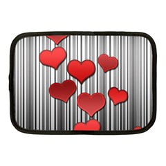 Valentines day pattern Netbook Case (Medium)