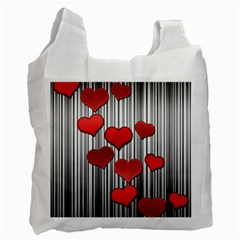 Valentines day pattern Recycle Bag (One Side)