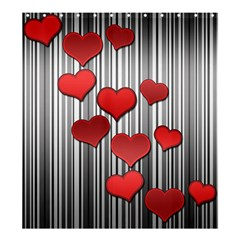 Valentines day pattern Shower Curtain 66  x 72  (Large)