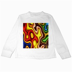Pattern Background Structure Kids Long Sleeve T-Shirts