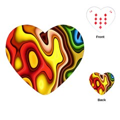 Pattern Background Structure Playing Cards (heart)