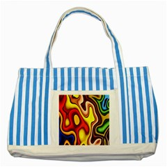 Pattern Background Structure Striped Blue Tote Bag