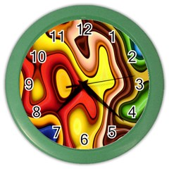 Pattern Background Structure Color Wall Clocks